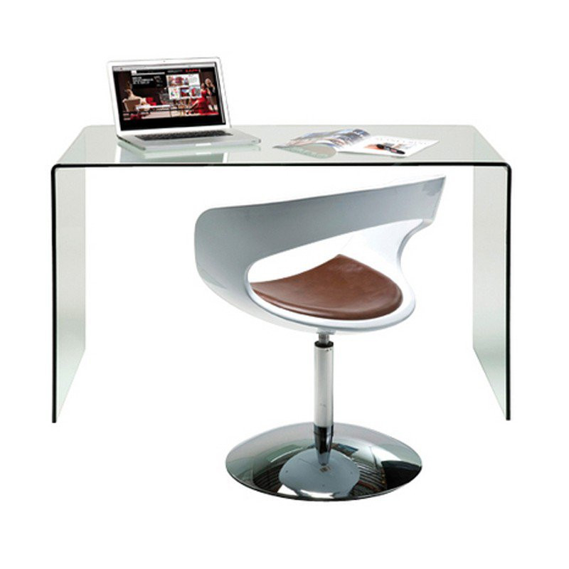 bureau glas design club kopen. Black Bedroom Furniture Sets. Home Design Ideas