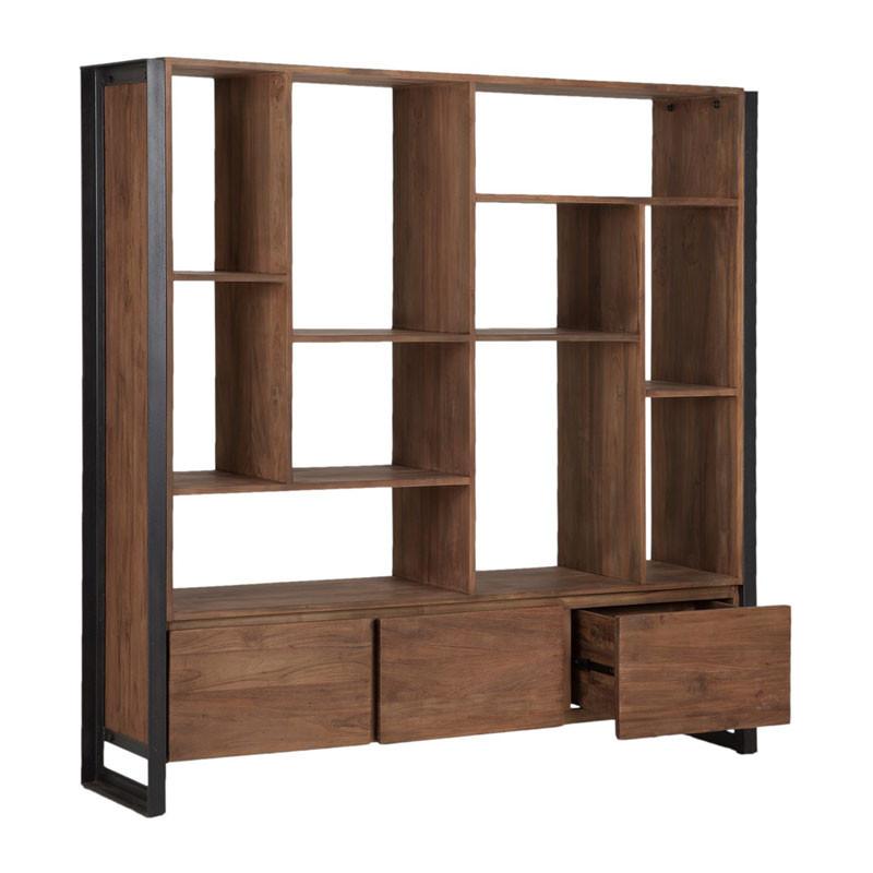 d-Bodhi Fendy | Brede boekenkast van hout | Onlinedesignmeubel