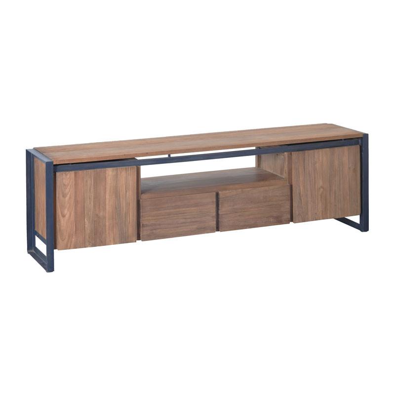 D bodhi fendy industrieel tv meubel van hout for Meubels industrieel