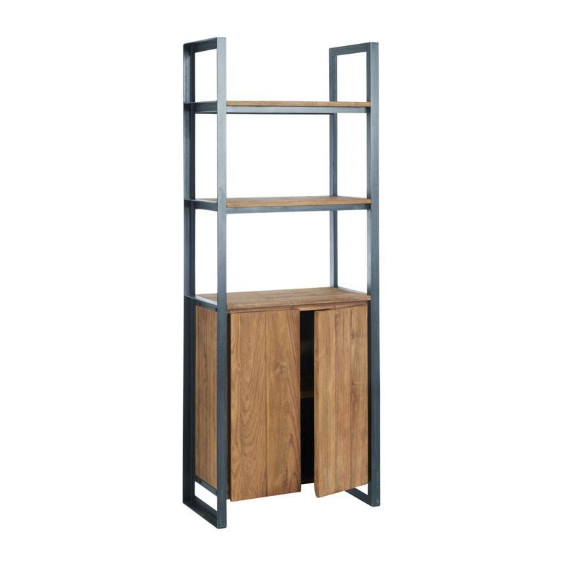 D bodhi fendy industriele boekenkast van hout onlinedesignmeubel - Boekenkast hout en ijzer ...