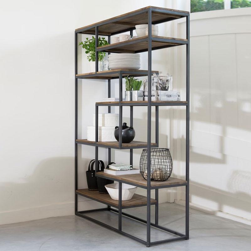 D bodhi fendy open boekenkast van hout onlinedesignmeubel - Boekenkast hout en ijzer ...