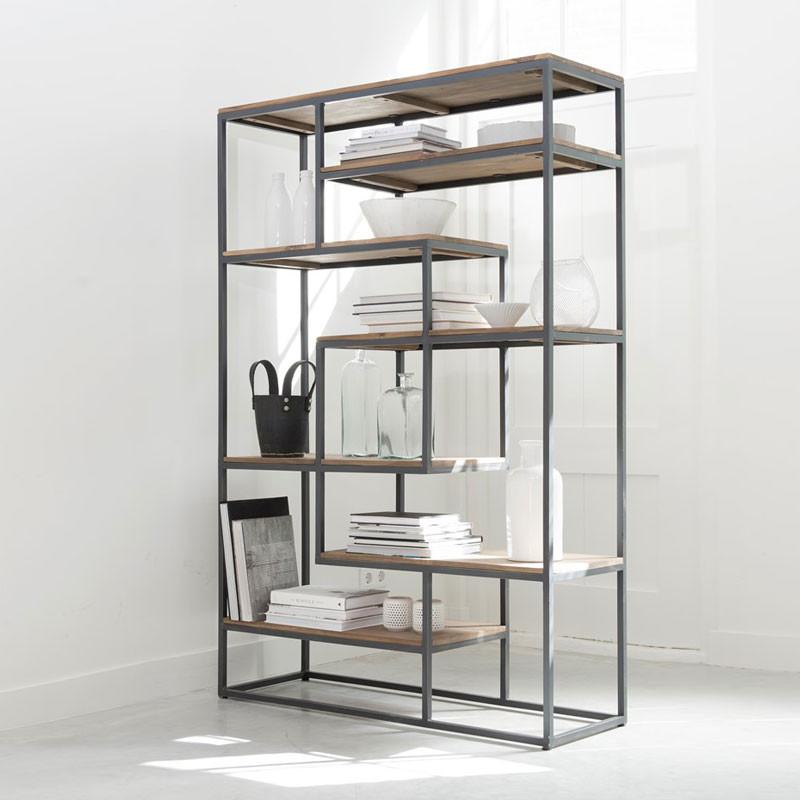 Boekenkast op wielen boekenkast planken breed with for Flexa ladenblok op wielen
