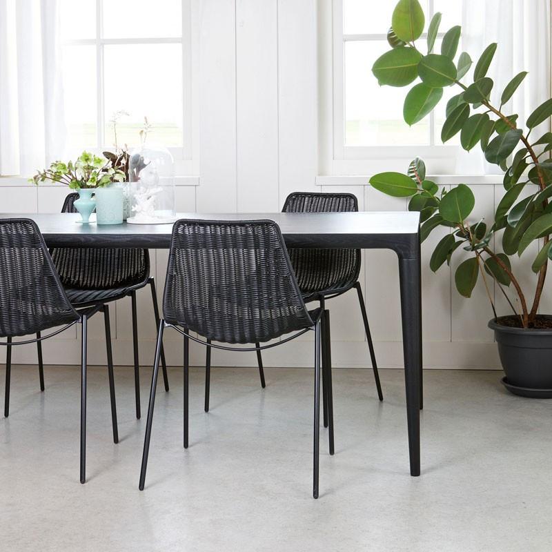 Design eettafel zwart essen woood troy for Design buros essen