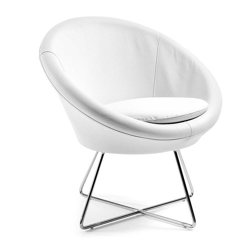 Moderne Fauteuil Wit.Design Fauteuil Wit Laforma Auba