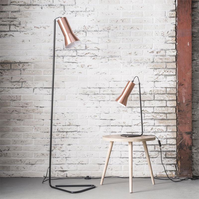 Design vloerlamp koper santa luccia for Koper design