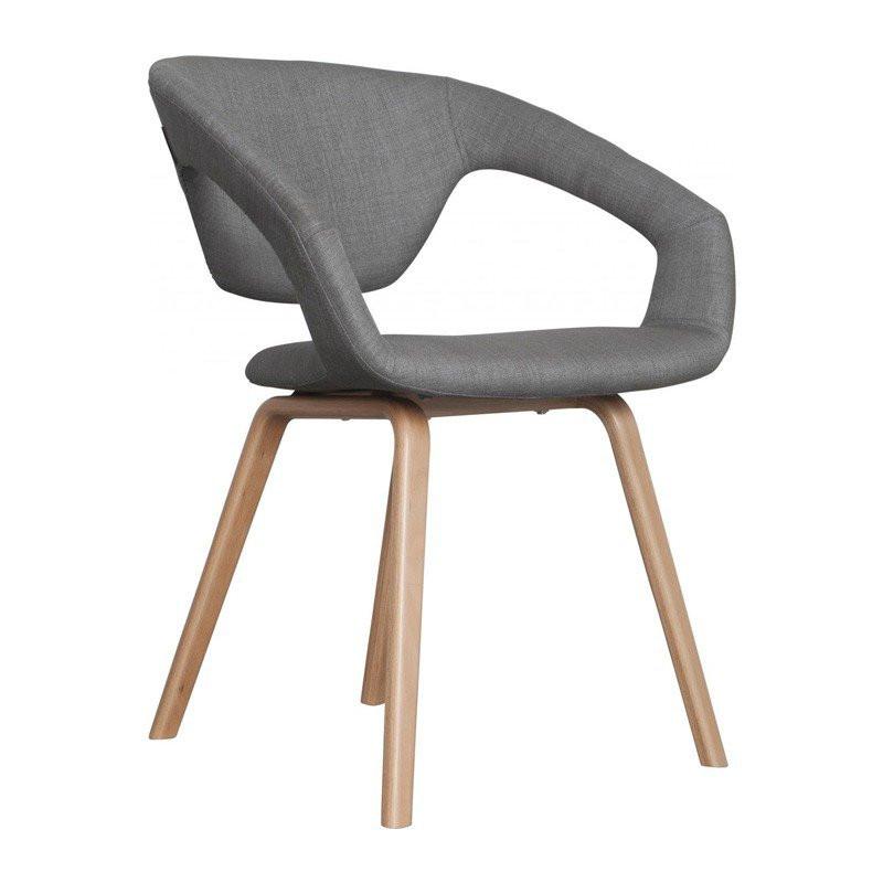 Design stoel flexback hout for Eetkamerstoelen kuipmodel