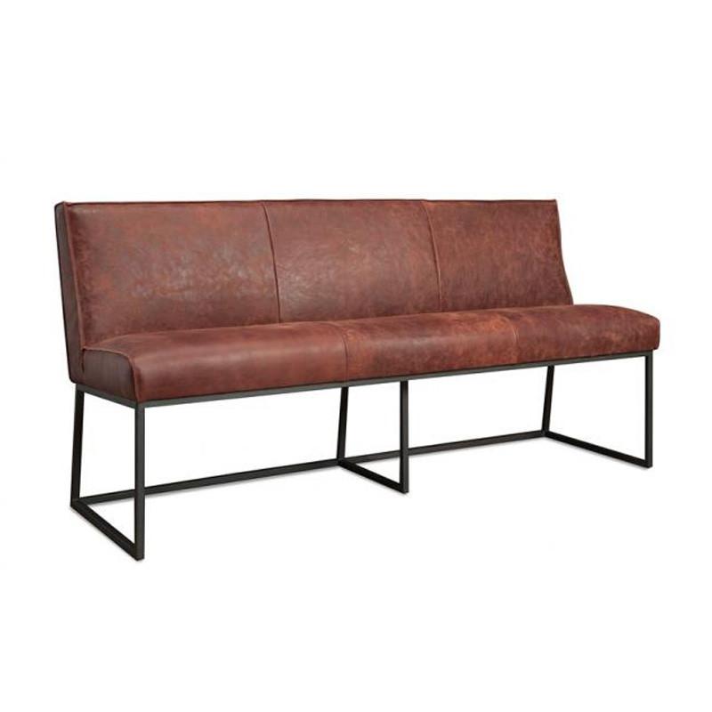 Eetkamerbank van leer het anker meubelen lara for Eettafel stoel leer