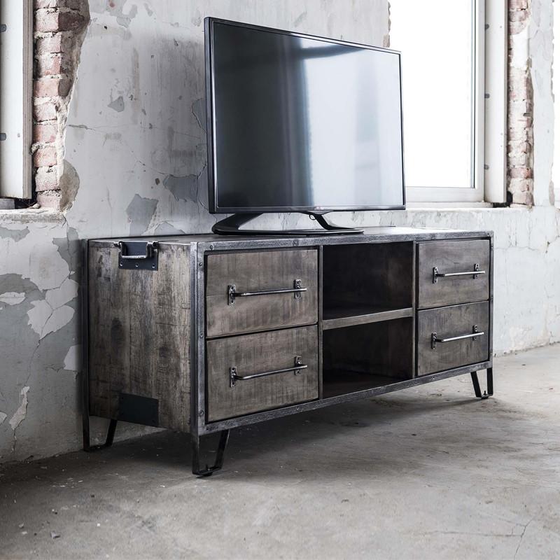 Tv Kastje Industrieel.Tv Meubel Industrieel Giani Tor Lumz