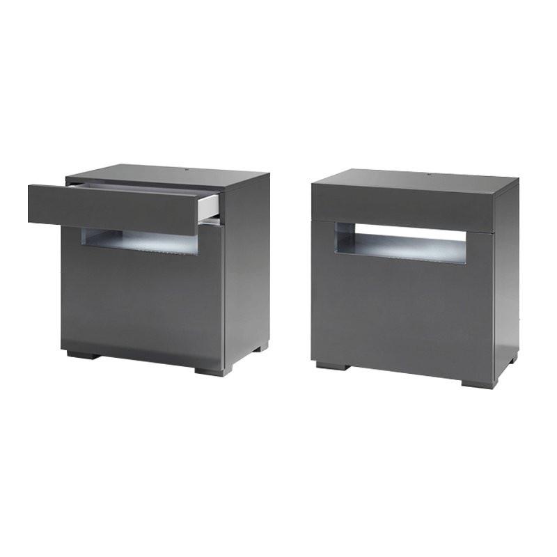 grijs nachtkastje met led verlichting onlinedesignmeubel