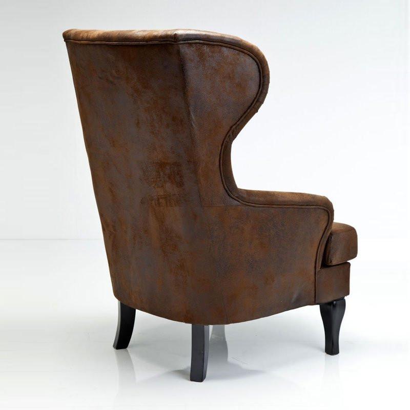 grote fauteuil bruin vintage bestellen. Black Bedroom Furniture Sets. Home Design Ideas