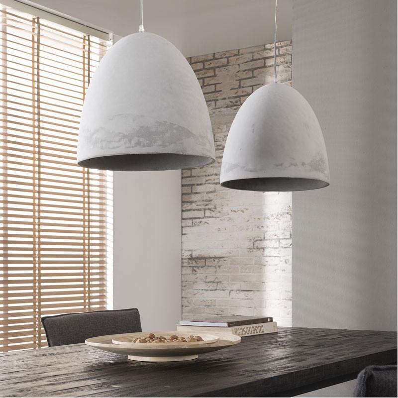 Grote hanglamp van beton santa trento for Lampen 4 you