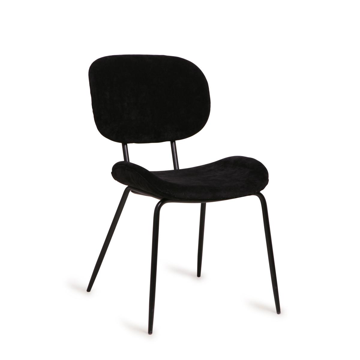 HKliving   Retro design stoel met ribstof   MSK3706   LUMZ