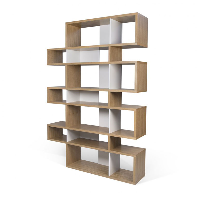 hoge design boekenkast eiken wit