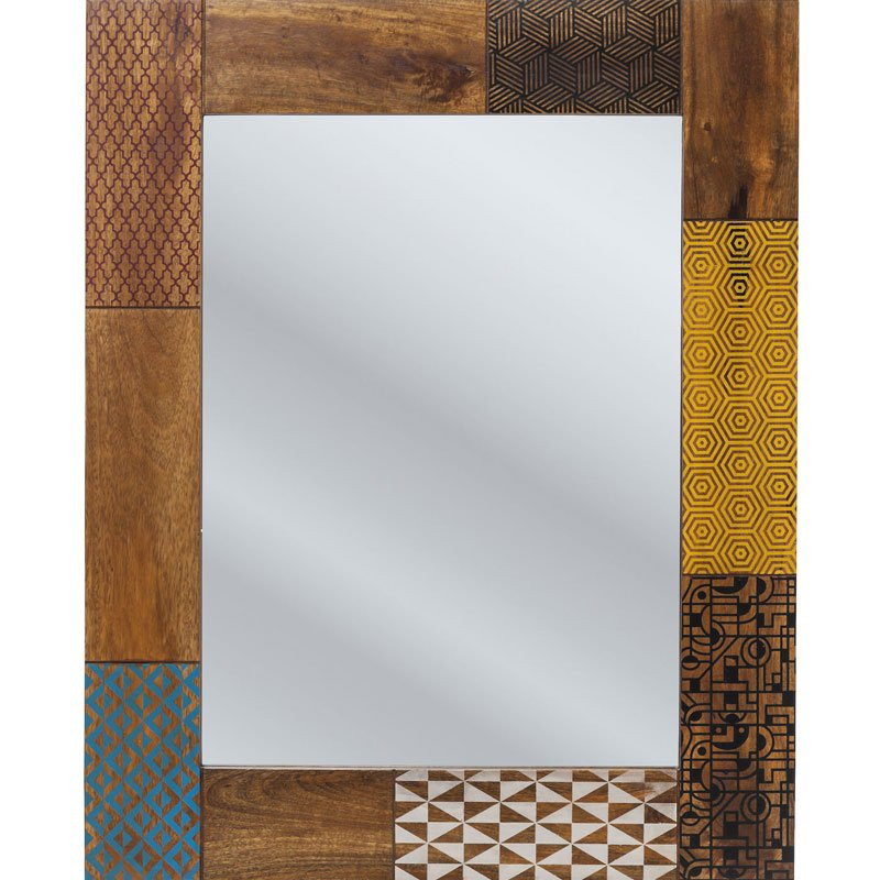 Houten spiegel soleil kare design for Houten spiegel