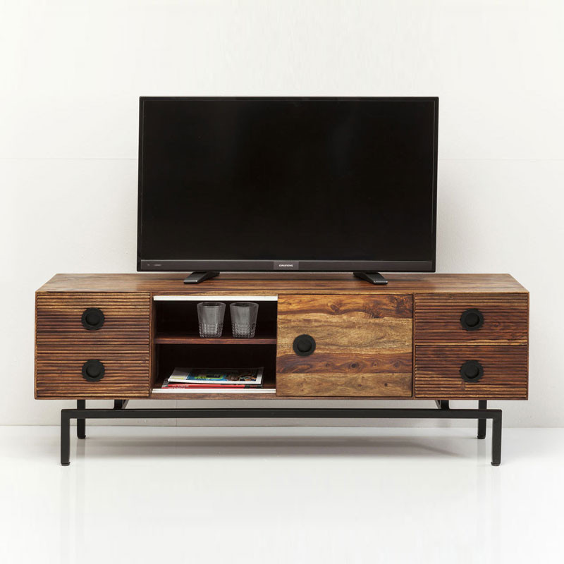 Houten tv meubel kare design estria for Tv meubel design