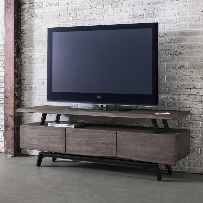Industrieel tv meubel hout giani ditan for Meubels industrieel