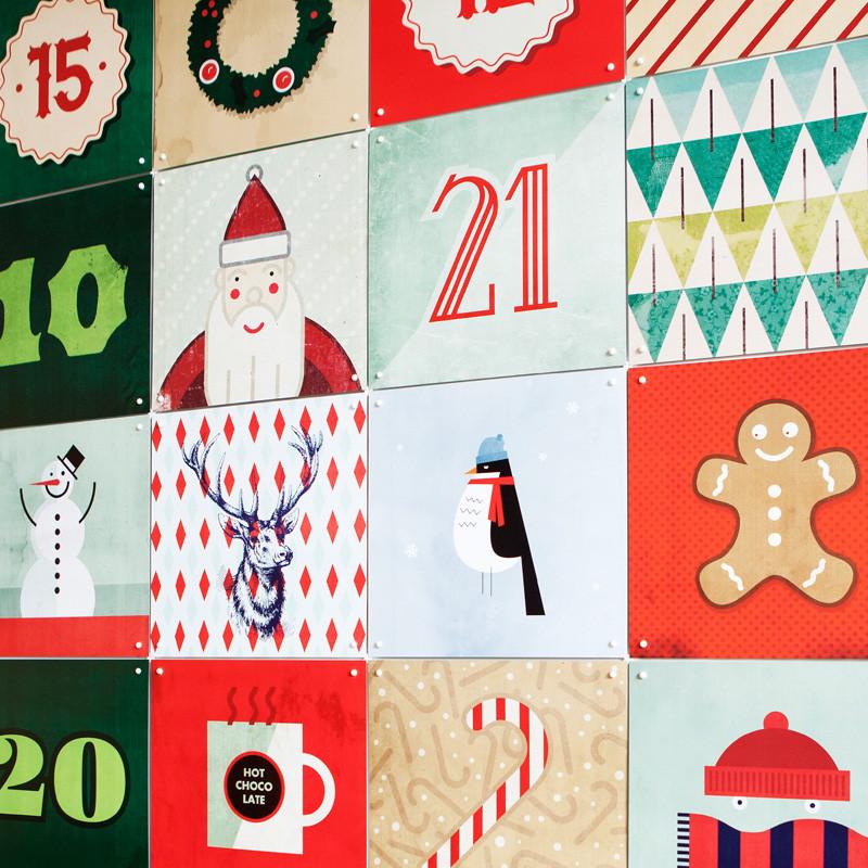 IXXI Advent calander | Aftelkalender kerst wanddecoratie | LUMZ