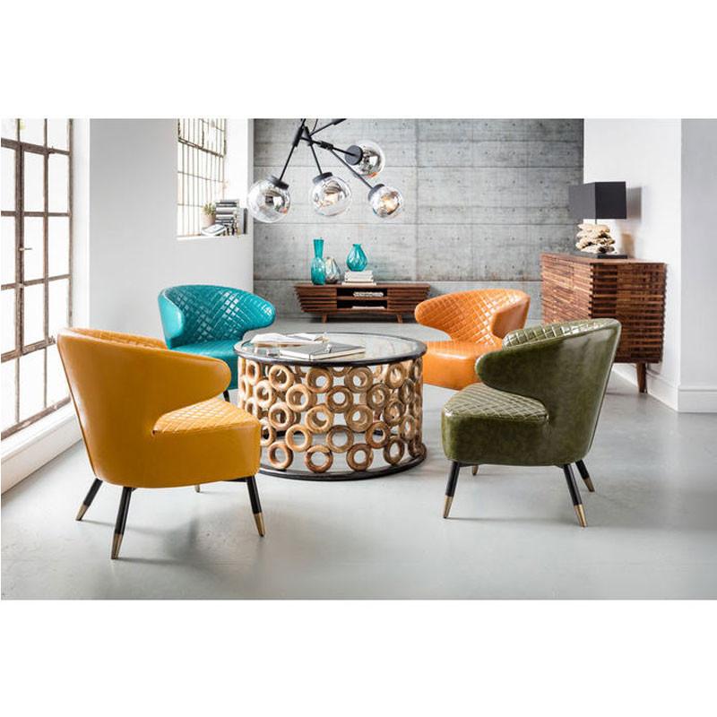 kare design cocktail retro gele fauteuil lumz. Black Bedroom Furniture Sets. Home Design Ideas