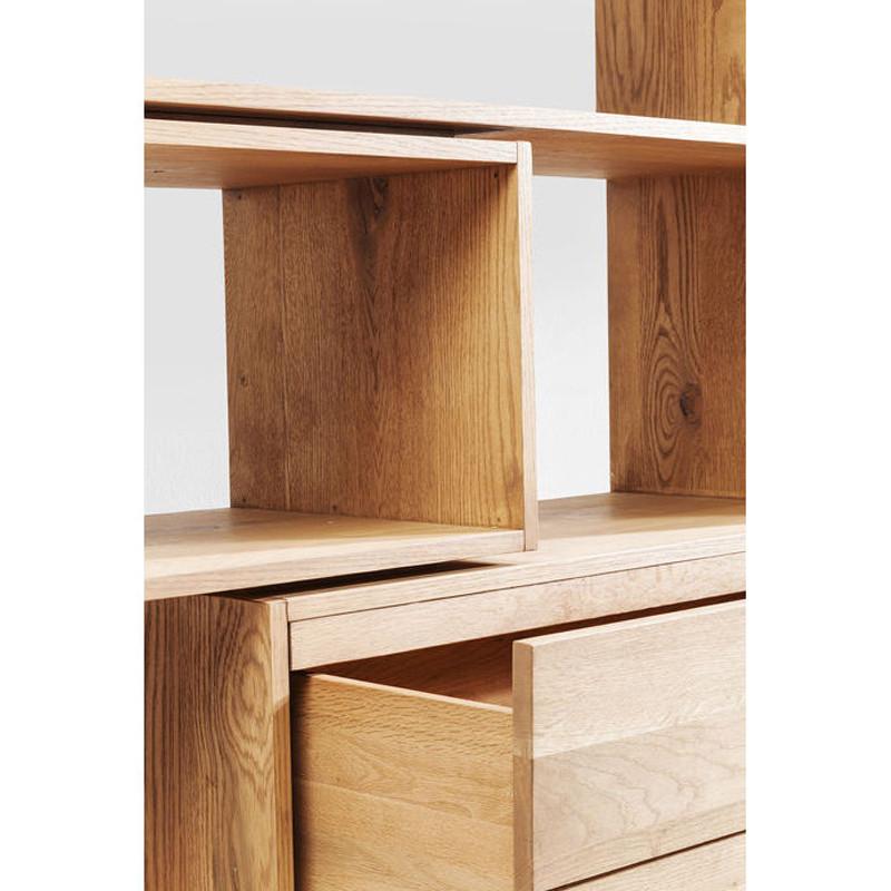 kare design cube massief eiken open wandkast met lades. Black Bedroom Furniture Sets. Home Design Ideas