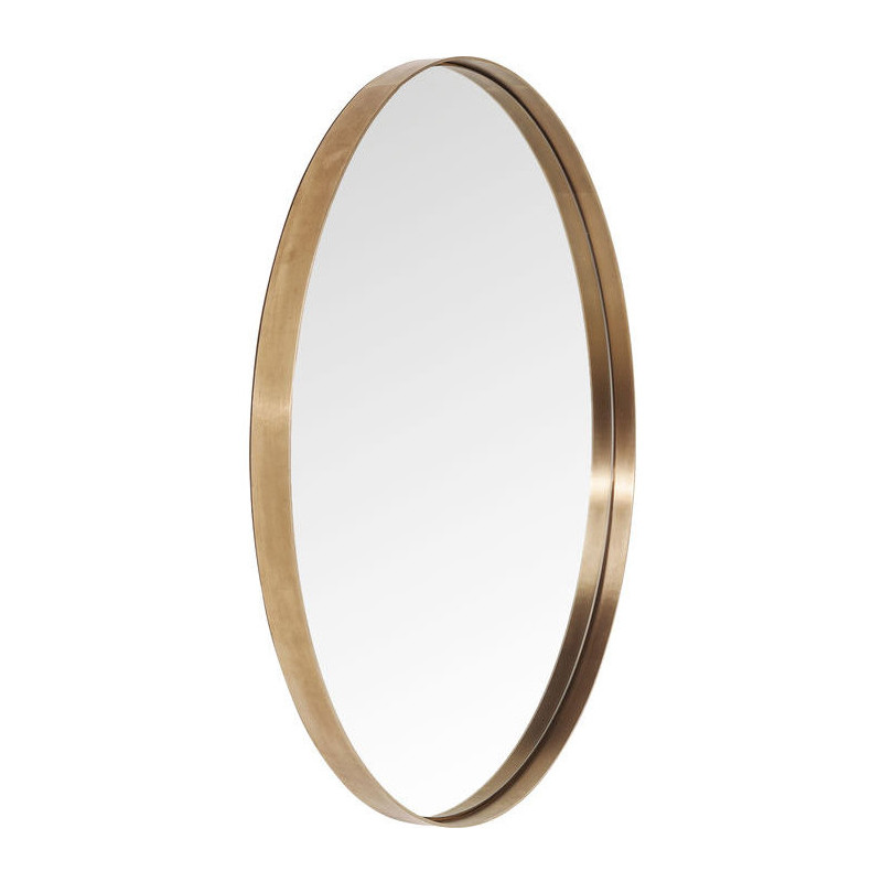 Bedwelming Kare Design Curve | Ronde koperen design spiegel 100 cm | LUMZ @SB41