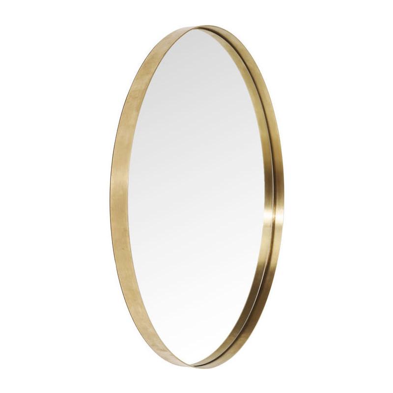 kare design curve ronde messing design spiegel 100 cm lumz. Black Bedroom Furniture Sets. Home Design Ideas
