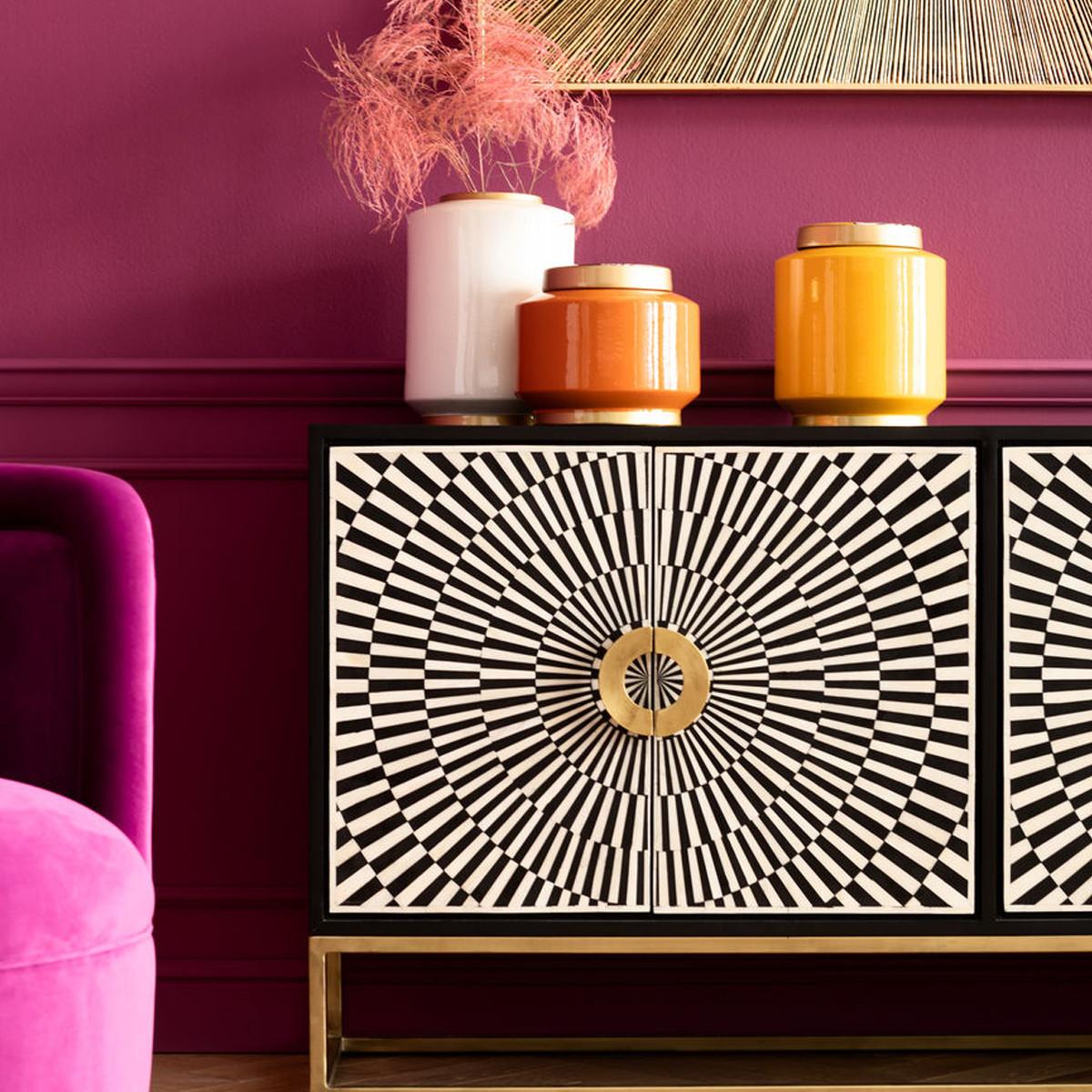 Kare Design Electro Design Dressoir Zwart Wit 84705 Lumz