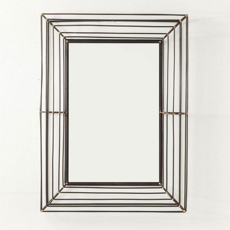 kare design hacienda design spiegel metaal. Black Bedroom Furniture Sets. Home Design Ideas