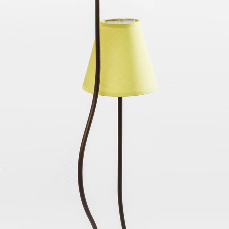 Kare design lime cinque vloerlamp met 5 gele lampen lumz for Gele lampen auto