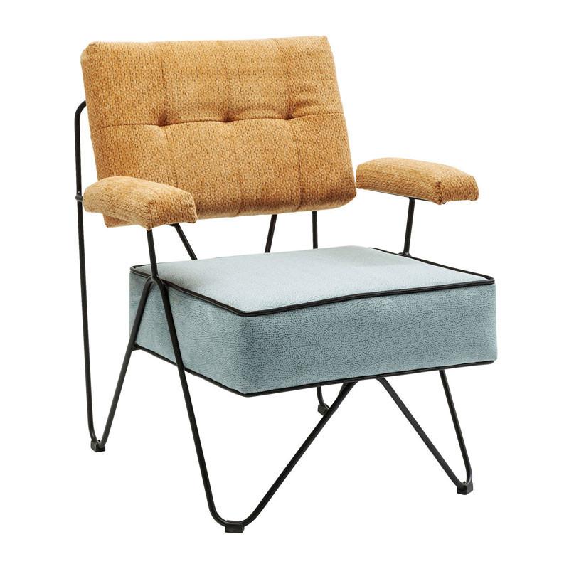 Kare design malmo retro fauteuil geel for Fauteuil retro design
