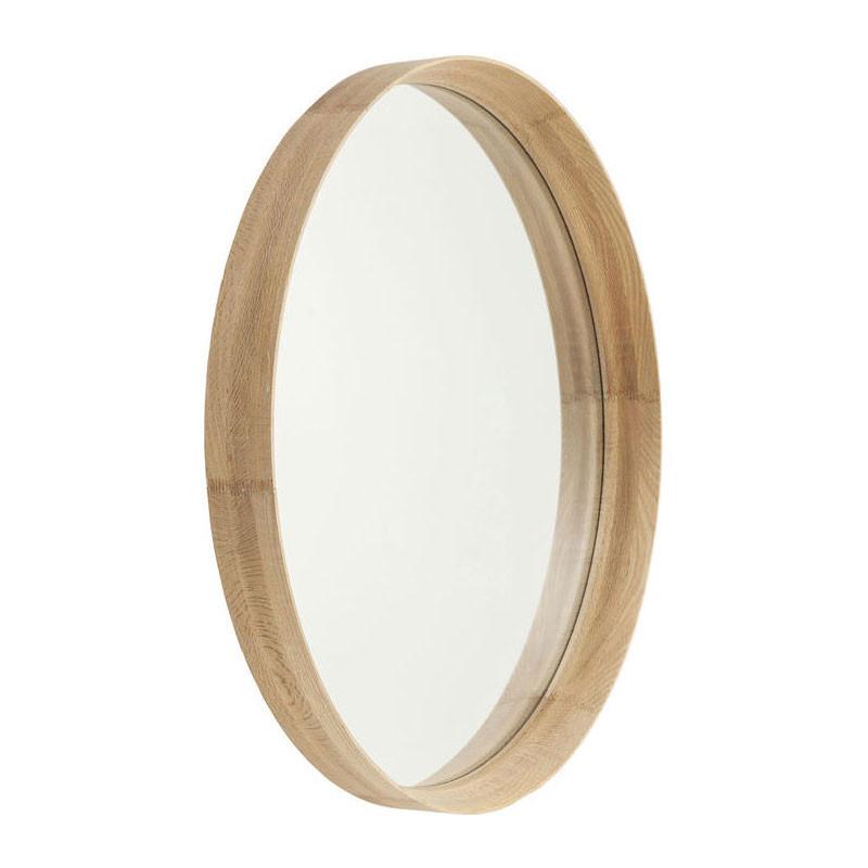 kare design montreal ronde houten wandspiegel lumz