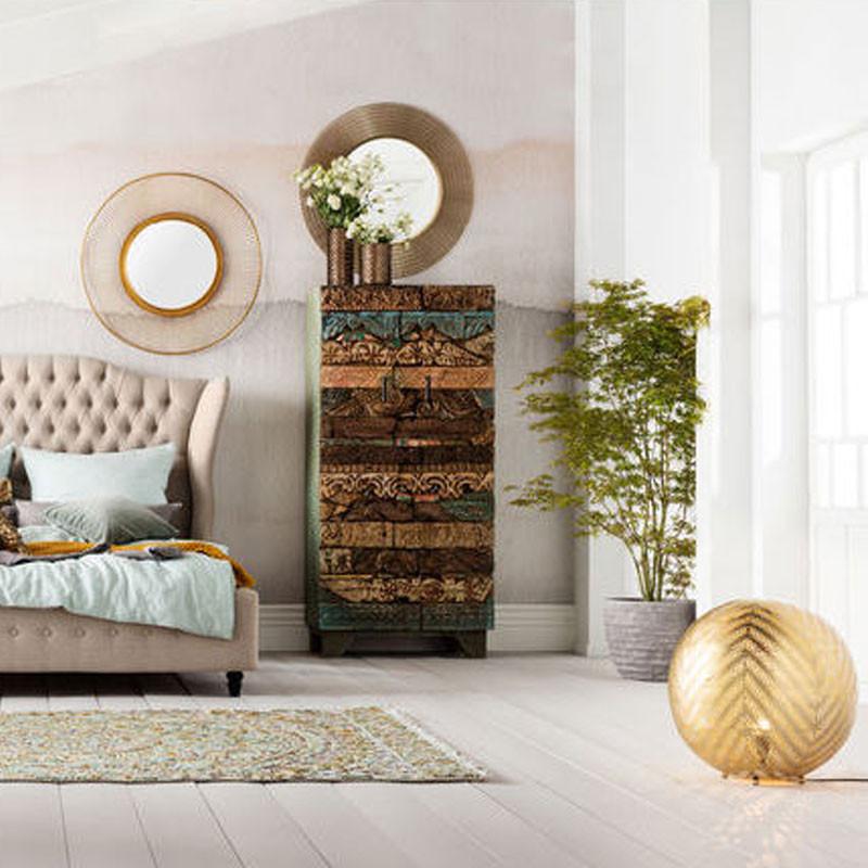 kare design nimbus ronde koperkleurige spiegel lumz. Black Bedroom Furniture Sets. Home Design Ideas