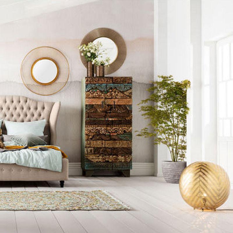 kare design nimbus ronde spiegel met metaal lumz. Black Bedroom Furniture Sets. Home Design Ideas