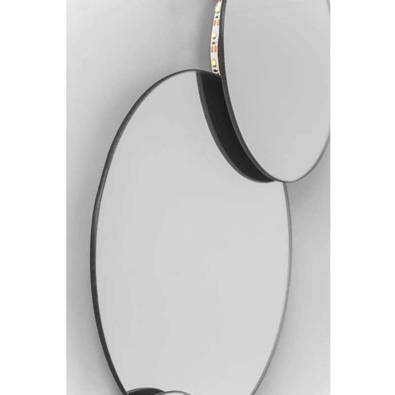 kare design pebbles circles ronde spiegel met led lumz. Black Bedroom Furniture Sets. Home Design Ideas