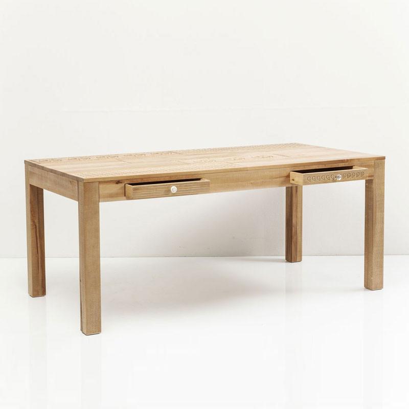 Kare design purezza houten eettafel 200x100 for Houten eettafel design