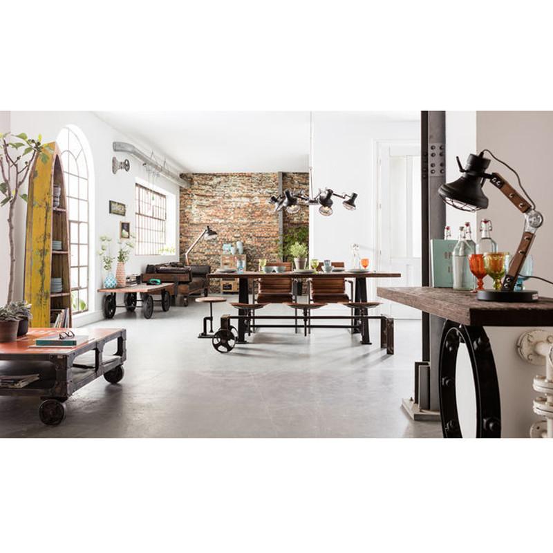 kare design railway vintage leren bank op wielen lumz. Black Bedroom Furniture Sets. Home Design Ideas