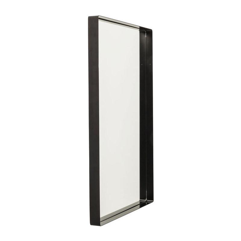 Kare design shadow soft spiegel met zwarte lijst 90 cm for Zwarte spiegel