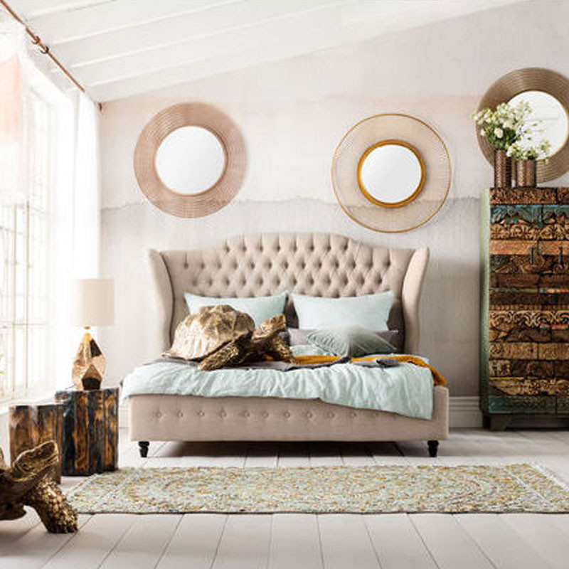 kare design sun storm authentieke ronde spiegel 82063. Black Bedroom Furniture Sets. Home Design Ideas