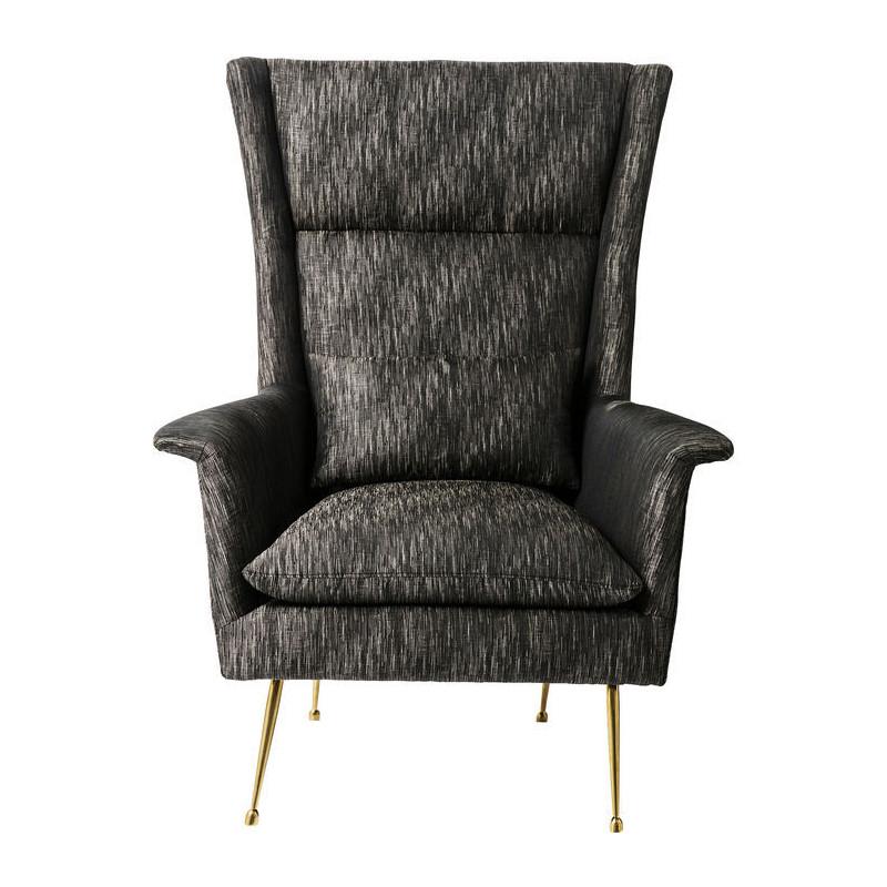 kare design vegas forever grijze fauteuil met hoge rugleuning lumz. Black Bedroom Furniture Sets. Home Design Ideas