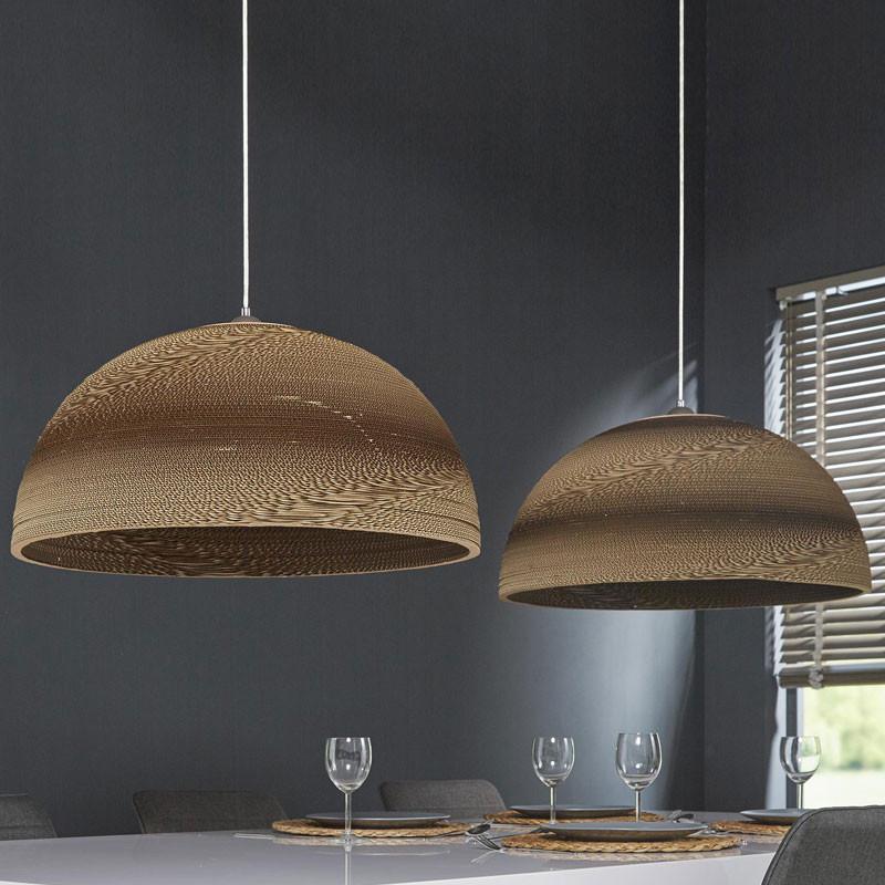 karton hanglamp 2x70cm santa pepa brown lumz