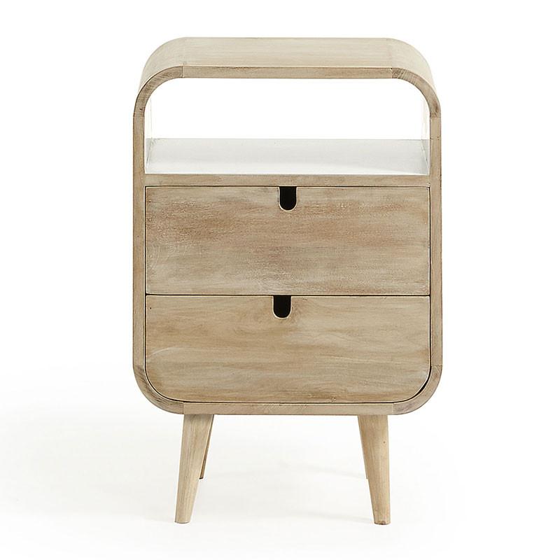 Wonderbaarlijk Kave Home Georg (Gerald) | Mango hout nachtkastje | GE001M33 | LUMZ OX-65