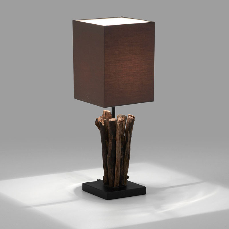 Lamp gerecycled hout laforma seratna for Design lamp hout