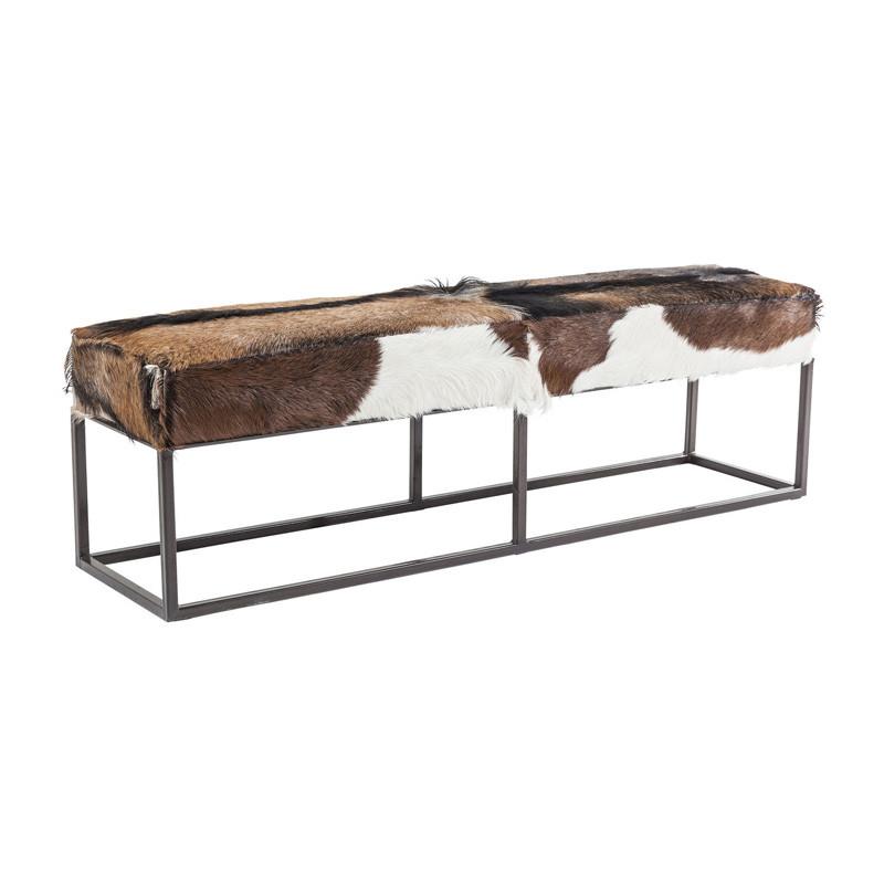 metalen bank kare design country life. Black Bedroom Furniture Sets. Home Design Ideas