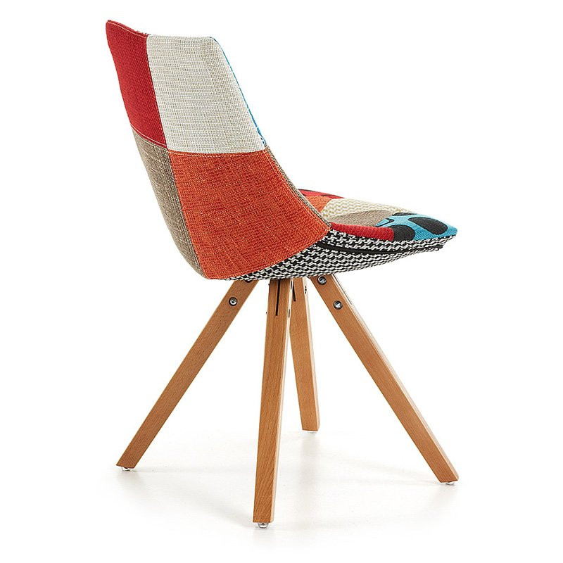 Moderne patchwork stoel armony - Moderne stoel ...
