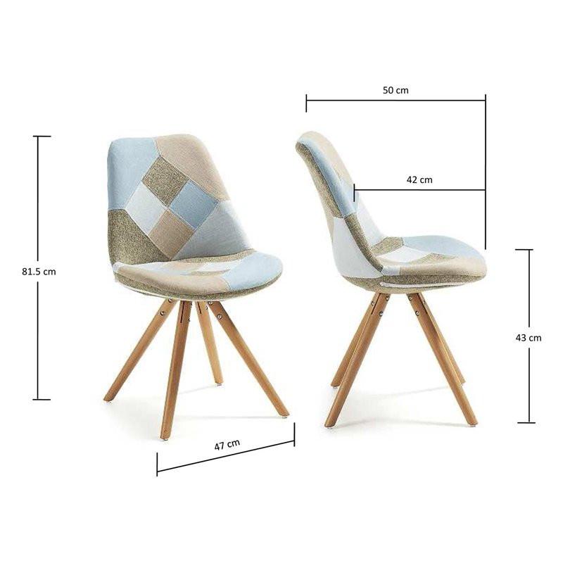 Moderne stoel laforma ralf blauw - Moderne stoel ...