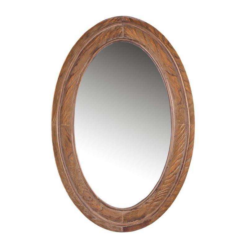 Ovale houten spiegel woood eura for Houten spiegel