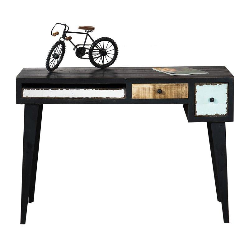 retro bureau lavis mavas zwart. Black Bedroom Furniture Sets. Home Design Ideas