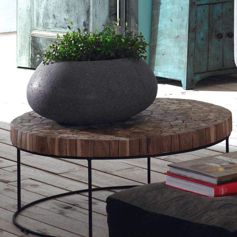 kave home solo ronde design salontafel van teak laforma