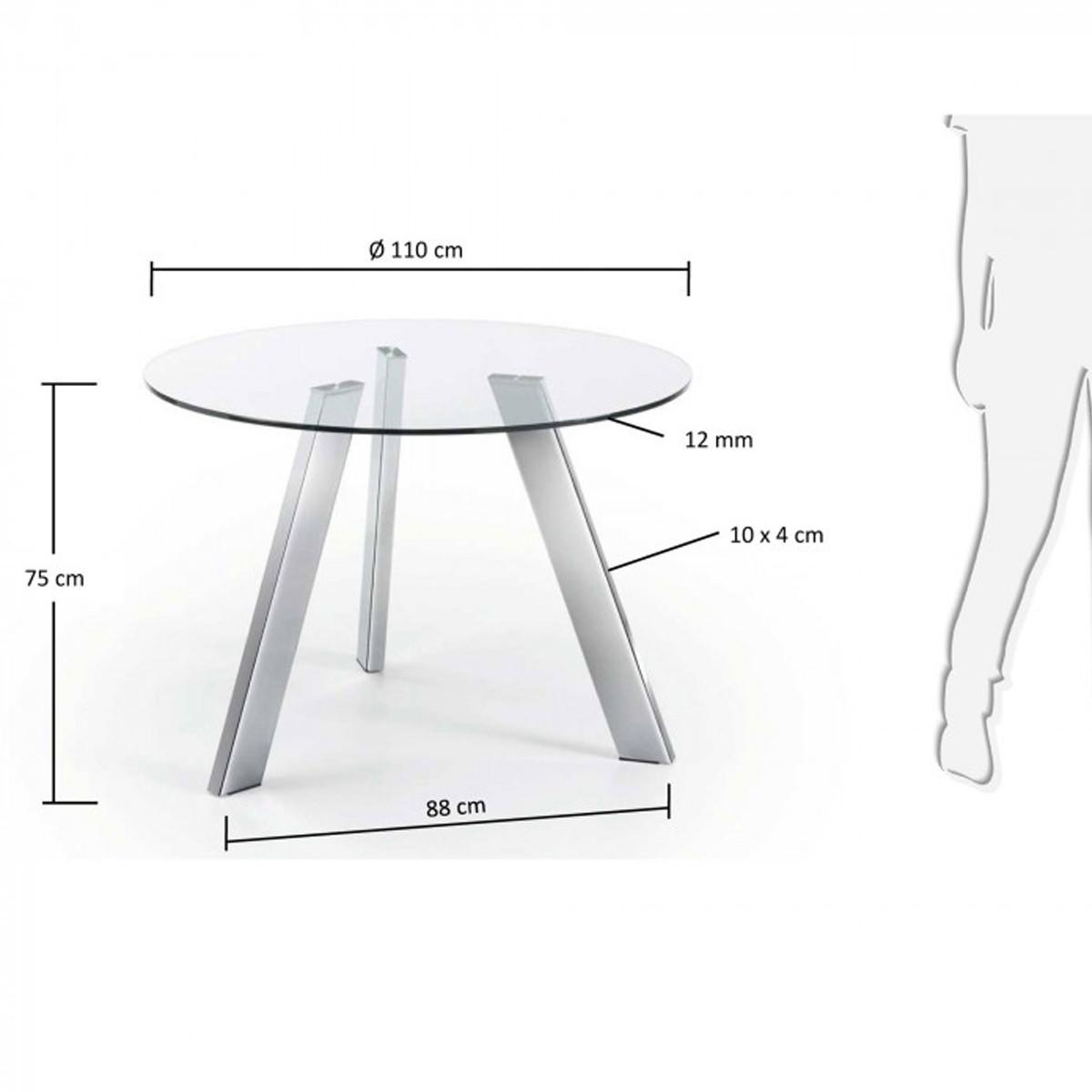 Ronde Eettafel Glas.Ronde Tafel Van Glas