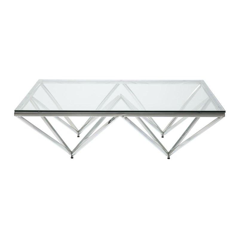 Disign Salontafel Glas.Design Salontafel Met Glas