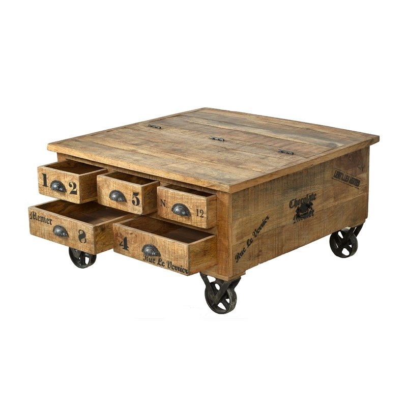 Salontafel op wielen lavis porter - Wat op een salontafel ...